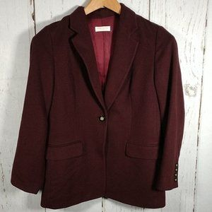 Brooks Brothers Maroon Camel Hair Long Line Blazer